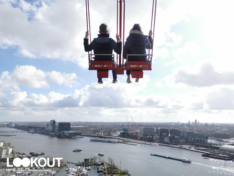Amsterdam Attractions Over the Edge Swing. Airline Gone Bust